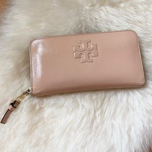 Tory Burch pink leather wallet